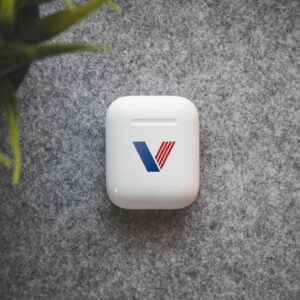 custom apple airpods place your company logo on one of the most popular consumer products