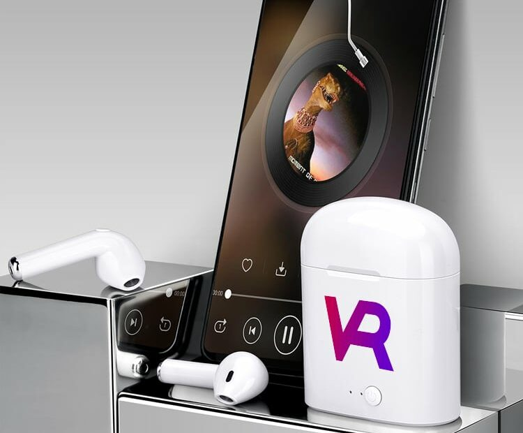 custom wireless earbuds place your company logo on one of the most popular consumer products
