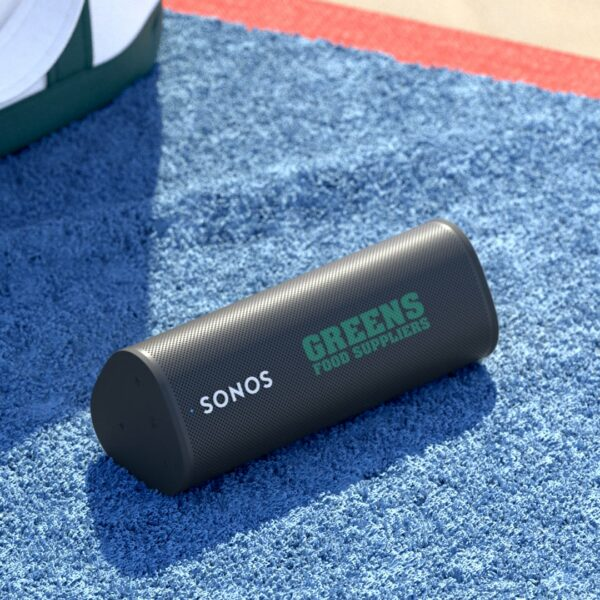 custom sonos roam speakers place your company logo on one of the most popular consumer products